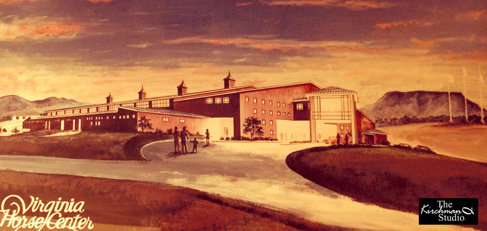 Anderson Arena Concept for Virginia Horse Center for Wright, Jones, Wilkerson Architects.